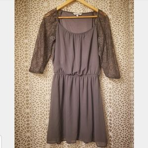 Speechless soft purple lace 3/4 sleeve dress large